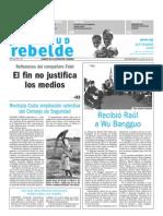 Juventud Rebelde 3 de Septiembre 2009