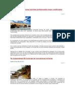 Las compañías mineras solicitan profesionales mejor certificados