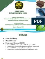 Workshop Pilot Project Day 2 - Presentasi Kebijakan Hemat Energi EINCOPS Jakarta 4 Des 2012