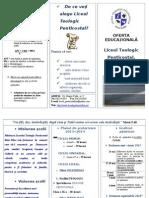 Pliant -Oferta Educationala