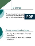 Models of Change Change managemnt