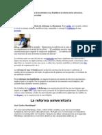 Reforma Universitaria