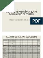 PRESTAÇÃO DE CONTAS ANO 2013