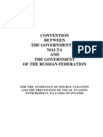 DTC agreement between Russian Federation and Malta
