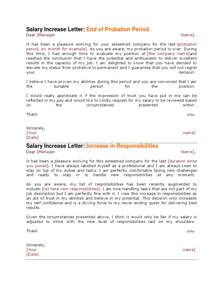 Salary increase letter cost of living salary altavistaventures Images