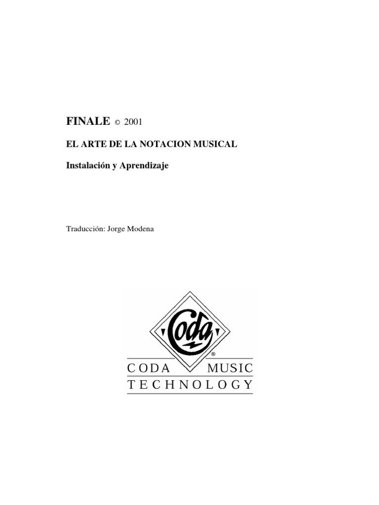Manual Finale 2001 completo