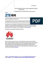 Telecom Uncovered Report 19th April 2013