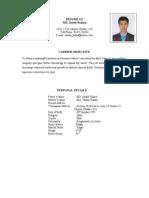 Resume of Zahid