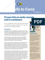 Frozen Fish on Reefers and in Containers