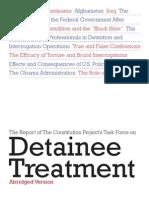 Abridged Report on Detainee Treatment