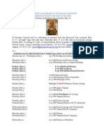 ST NICHOLAS CONVENT PATRONAL FEAST DAY MAY 25-26, 2013