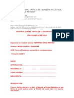 Lectura 03 SARTRE, CRÍTICA DE LA RAZÓN DIALÉCTICA, CUESTIONES DE MÉTODO (1)