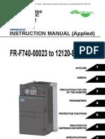 Mitsubishi A700 Series VFD Manual