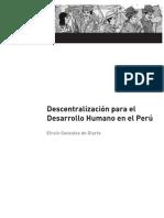 Descentralización para el desarrollo humano en el Perú