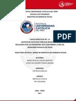 Gestión de Políticas Públicas Municipales realizada por la Red de Regidoras Rurales de Piura