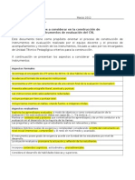 criterios para la construcción de instrumentos evaluativos profesores nuevos