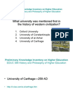 EDUC 386 Knowledge Inventory on Higher Education (PPsp09)