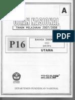Unas 0708 Bahasa Indonesia A
