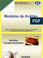 ECONOMIA - Modelos de analise para Administração Financeira