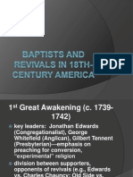 Baptists and Revivals in 18th-Century America