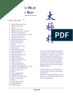 Taijiquan (Tai Chi) - Yang - Duan Kun (Cane) 37 Forms List - English