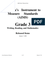 Arizona's Instrument to Measure Standards - Grade 3