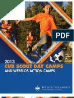 2013 Cub Camp Brochure