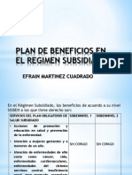 Plan de Beneficios en El Regimen Subsidiado