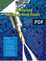 Monitoring Metal Working Fluids