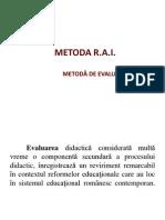 Metoda RAI-Metoda de Evaluare