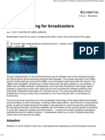 Cloud Computing for Broadcasters