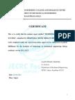 Seminar Report Certificate