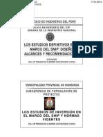 Estudios Definitivo SNIP