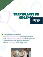 Diapositivas Transplante de Organos