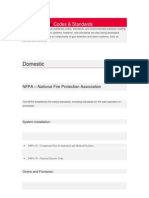 Fire and Gas Codes & Standards
