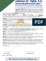 Modelo de Contrato de Trabajo 2013