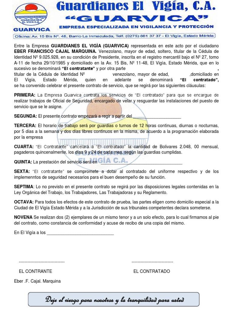 Modelo de contrato de trabajo 2013 for Modelo contrato laboral