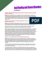 Psychospiritual Healing and Disorders