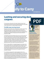Lashing and Securing Deck Cargoes