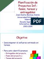 Fases, Tareas y Entregables-Universidad Politecnica de Valencia