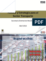Política y Estrategia para el Sector Transporte