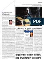 Concerts in Park Scheduled