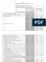 INPI Tabela de Retribuicoes 2012