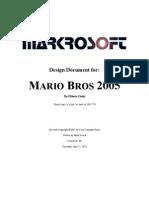 Mario 2 k 5 Design Document
