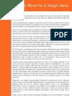 Carta Abierta a Diego Vela