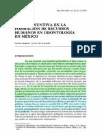 la disyuntiva en la formacion de recursos en odontologia en mexico.pdf