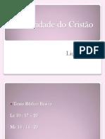 AUTORIDADE DO CRISTÃO professor
