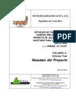 Estudios de Factibilidad y Diseño Preliminar del  Proyecto de Alcantarillado Sanitario Para la Ciudad de Santa Ana