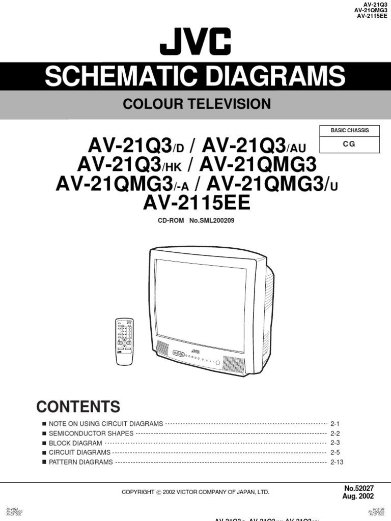 Jvc Av 2115ee Chassis Cg Schematic Diagram
