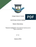 Antedecedentes historicos de la Lógica matematica..docx